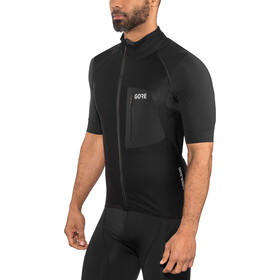 GORE WEAR C7 Pro Gore Windstopper Zip-Off Jersey Herren black